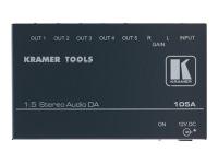 105A 5.0 Leistung/Phase Verkabelt Schwarz Audioverstärker