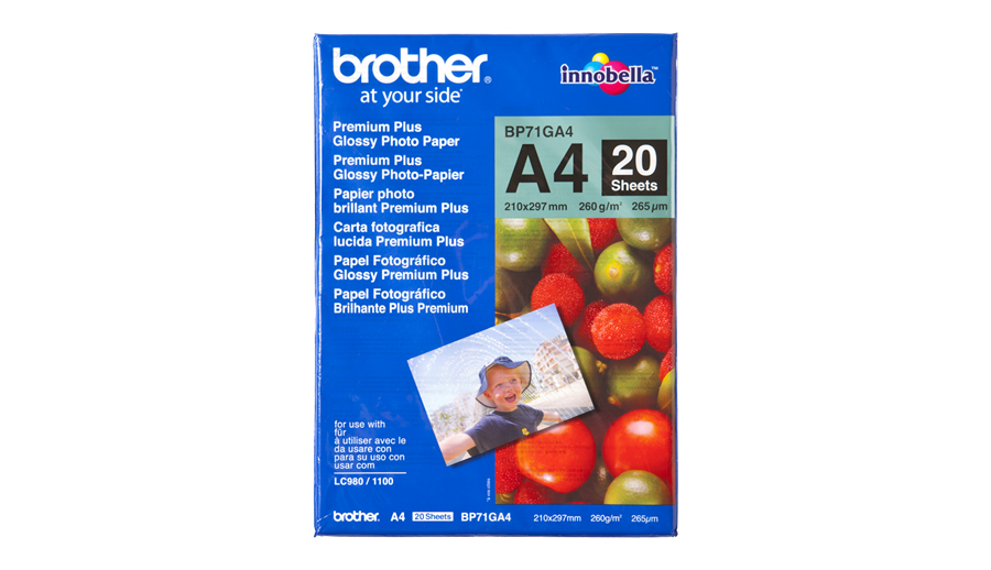 Brother DIN A4 Glanzpapier A4 Foto-Papier - 260 g/m² - 210x297 mm - 20 Blatt