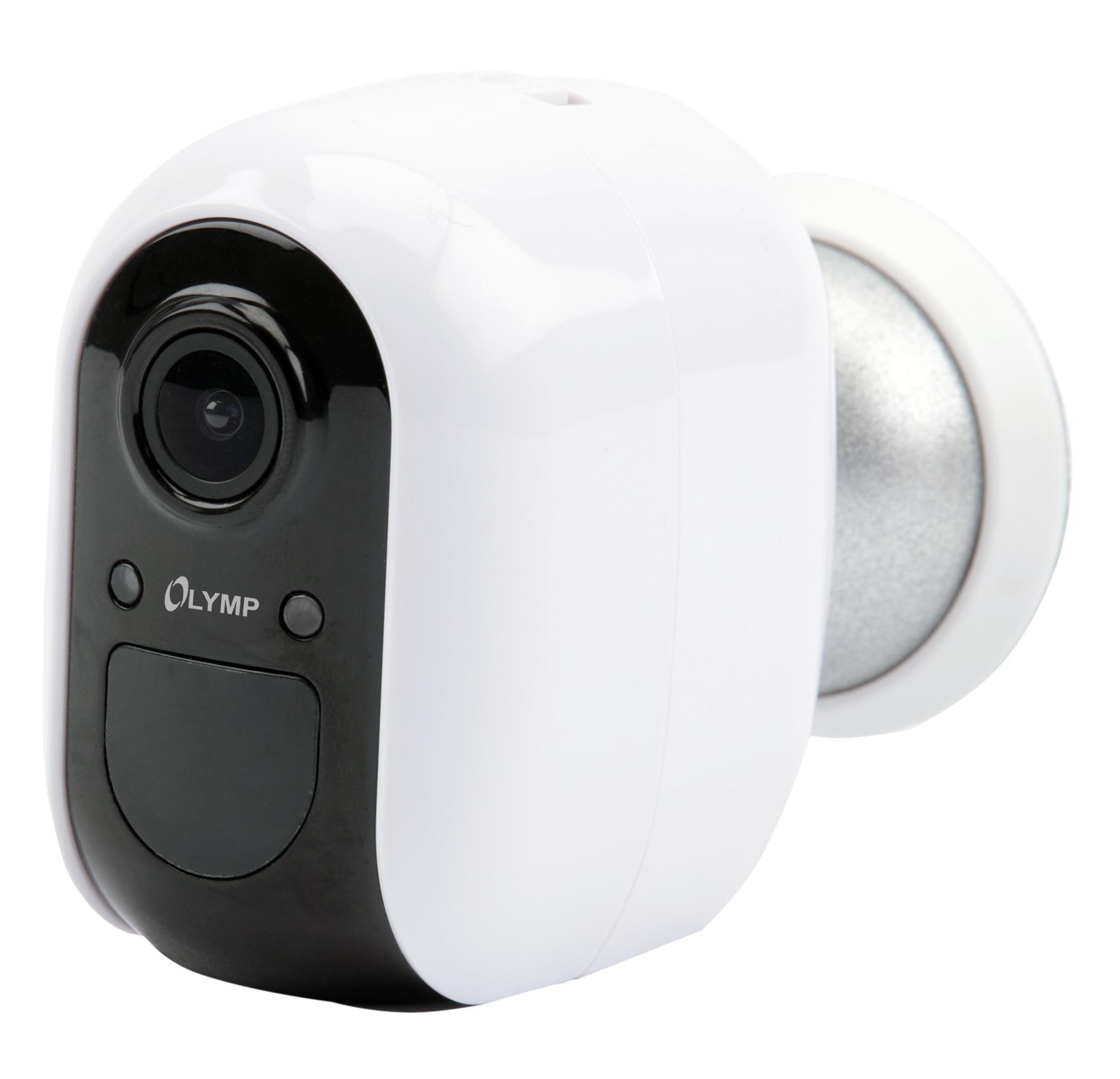 Olympia OC 1000 - IP-Sicherheitskamera - Innen & Außen - Kabellos - 80 m - Amazon Alexa & Google Assistant - 2400 MHz