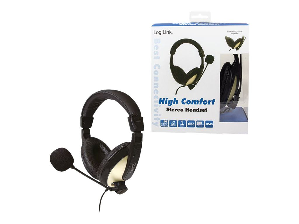LogiLink Stereo Headset with High Comfort - Headset