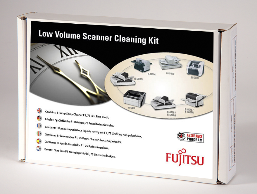 Fujitsu SC-CLE-LV Scanner Equipment cleansing dry cloths & liquid Reinigungskit