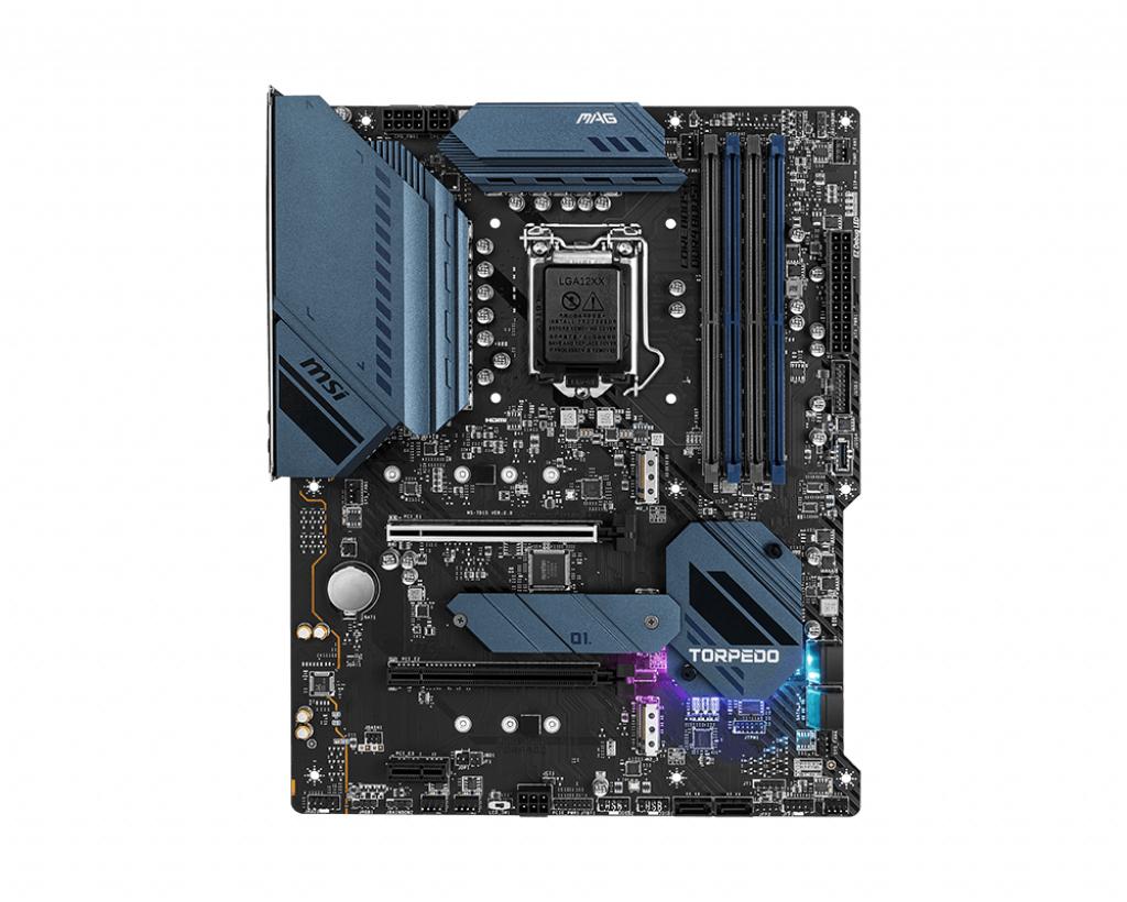MSI MAG B560 TORPEDO - Motherboard - ATX - LGA1200-Sockel - B560 - USB-C Gen2, USB 3.2 Gen 1, USB 3.2 Gen 2x2 - Gigabit LAN, 2.5 Gigabit LAN - Onboard-Grafik (CPU erforderlich)