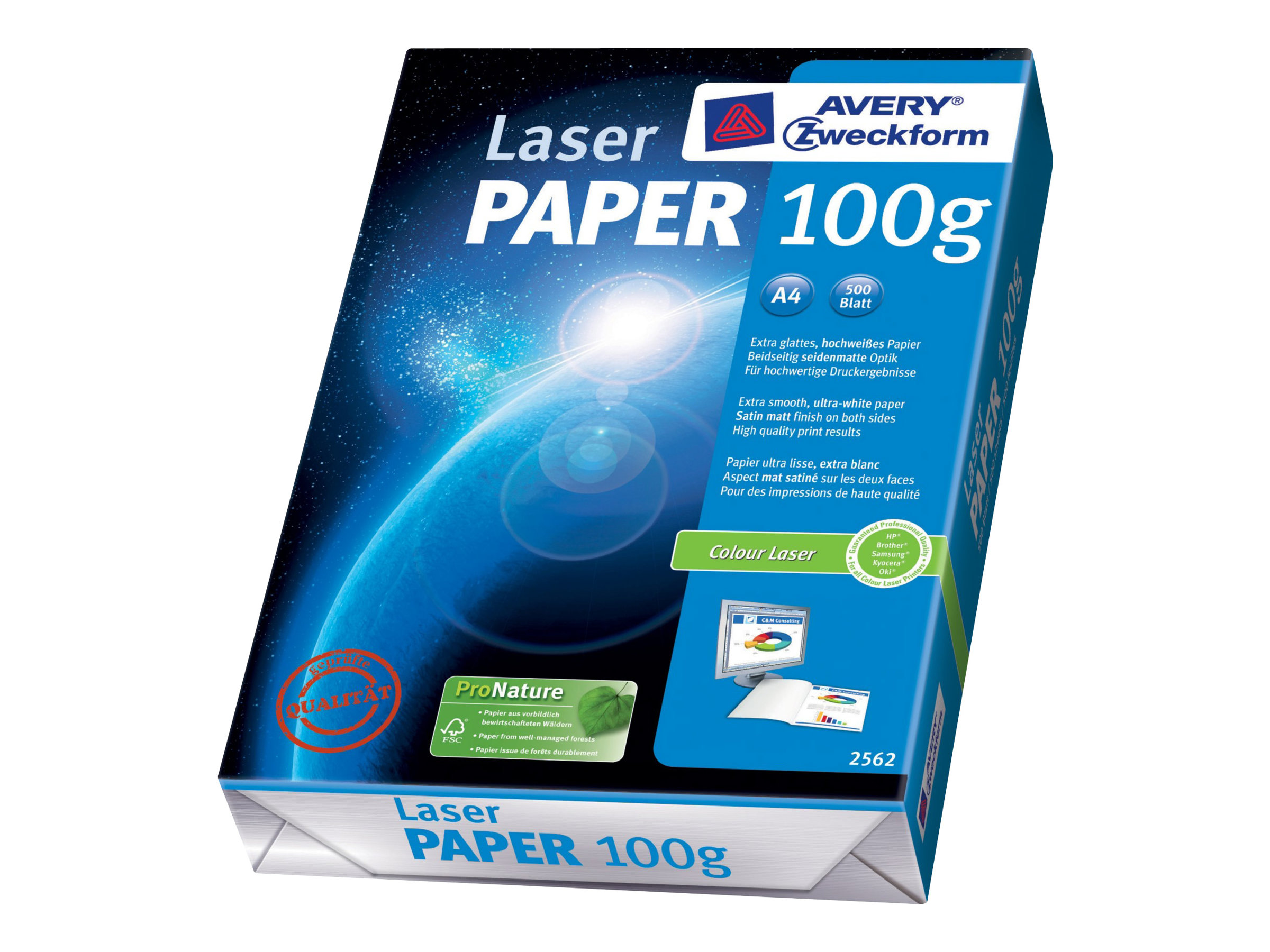 Avery Zweckform Classic Colour Laser Paper 2562