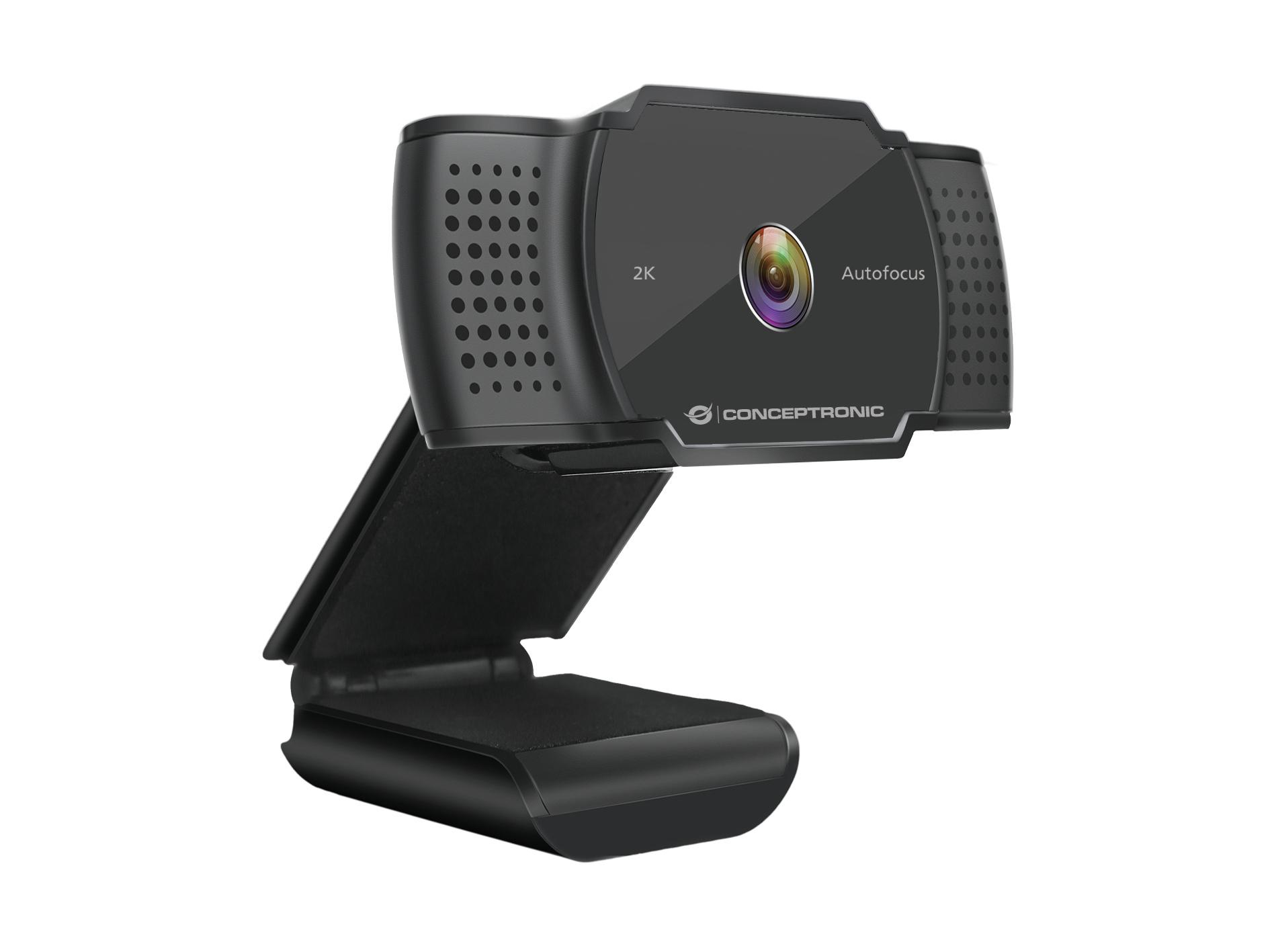 Conceptronic Webcam AMDIS 2k Super HD AF-Webcam+Microphon.sw - Webcam