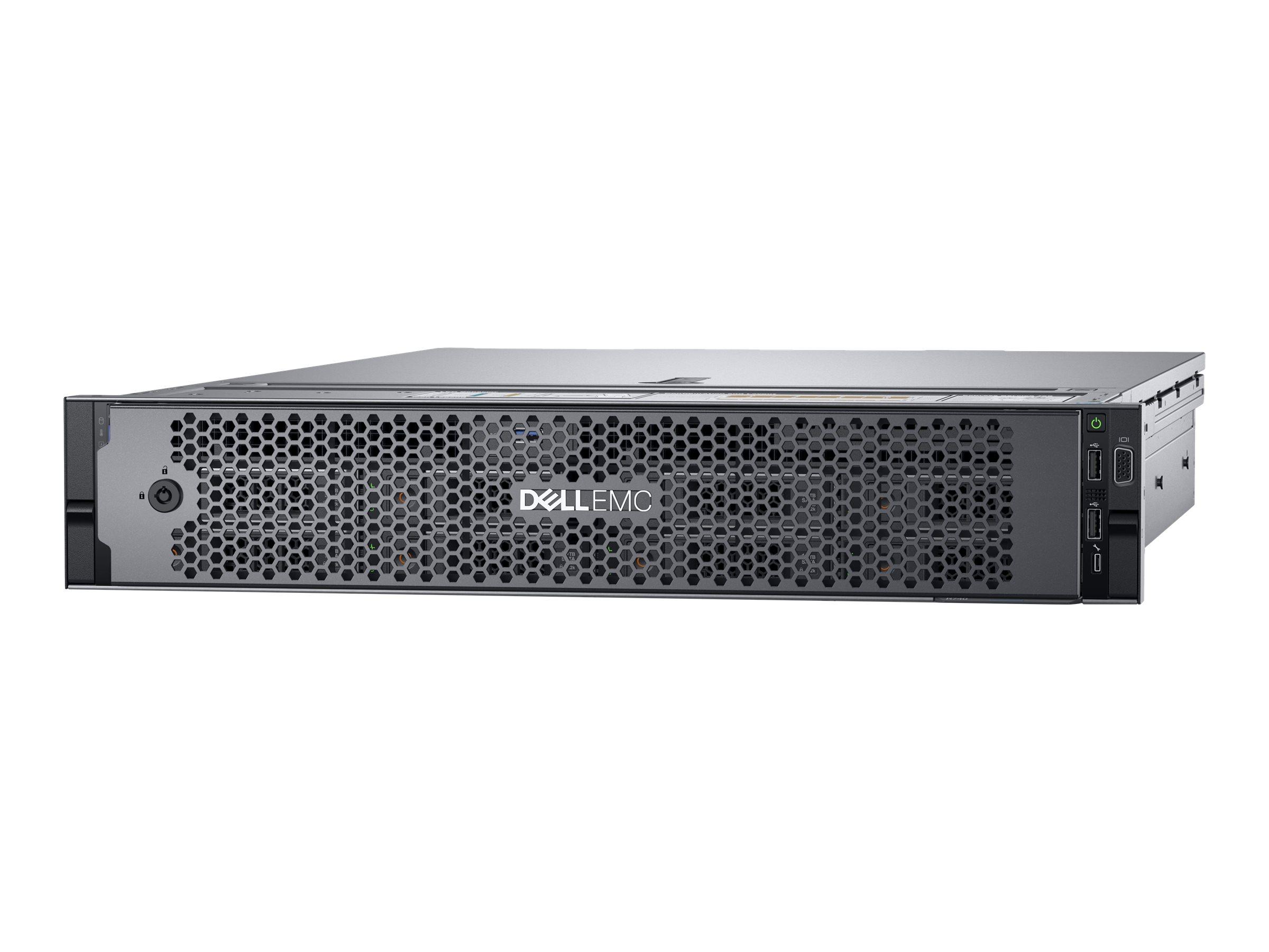 Dell EMC PowerEdge R740 - Server - Rack-Montage - 2U - zweiweg - 1 x Xeon Silver 4110 / 2.1 GHz - RAM 16 GB - SAS - Hot-