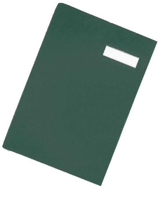 Pagna Unterschriftenmappe DIN A4 20 Fächer grün - Konventioneller Dateiordner - A4 - Pappe - Stoff - Grün - Porträt - 240 mm