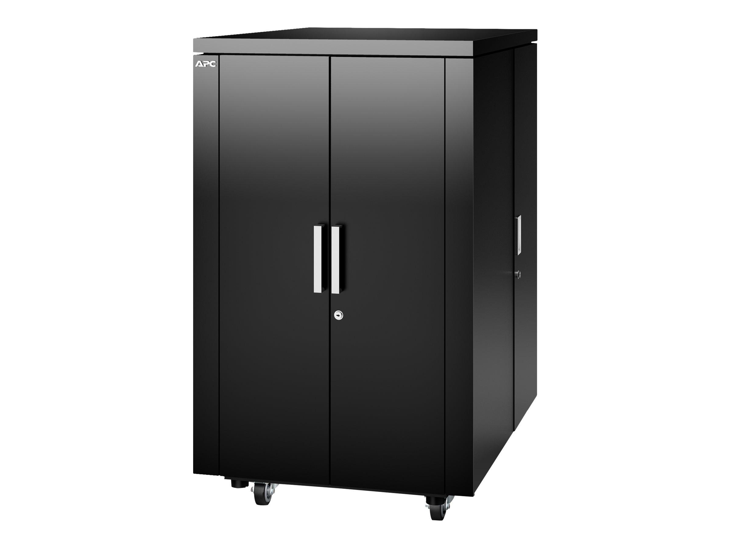 """APC NetShelter CX Secure Soundproof Server Room in a Box Enclosure - Shock Packaging - Schrank - Netzwerkschrank - mit Stromverteilungseinheit - Schwarz - 24U - 48.3 cm (19"""")"""
