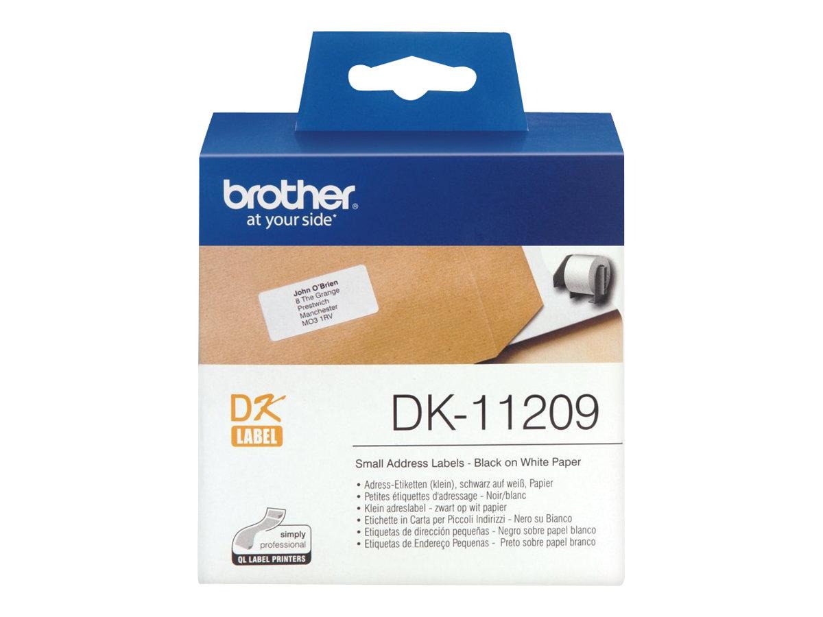 Brother DK-11209 - Schwarz auf Weiß
