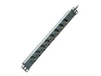 19.07.1622 Innenraum 8AC outlet(s) 2m Aluminium Verlängerungskabel