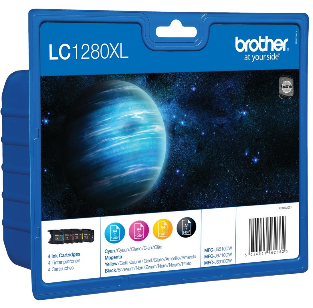Brother LC-1280XLVALBPDR Schwarz - Gelb Tintenpatrone