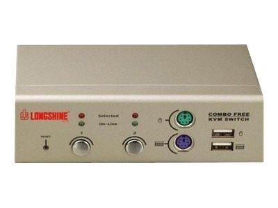 Longshine LCS-K702 - KVM-Switch - 2 x KVM port(s)