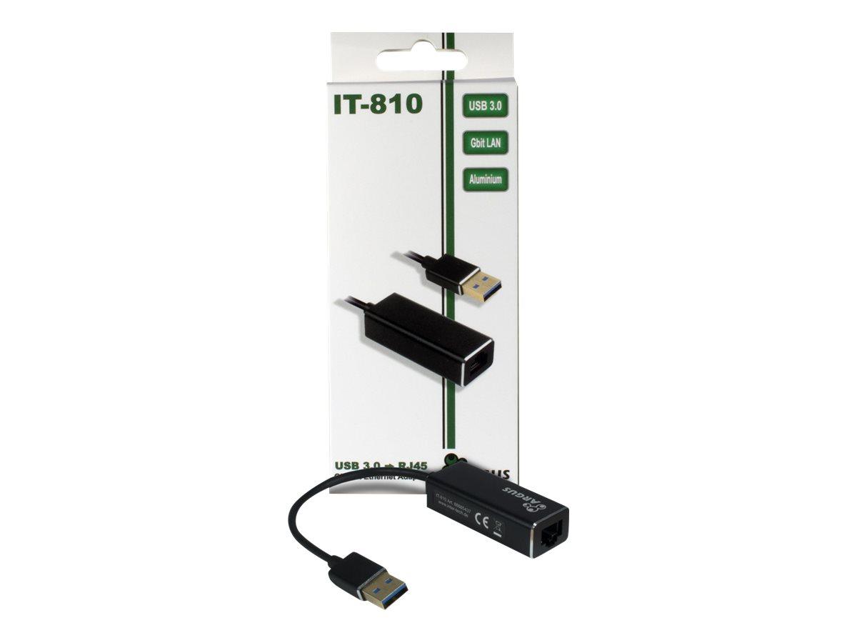 Inter-Tech Argus IT-810 - Netzwerkadapter - USB 3.0 - Gigabit Ethernet