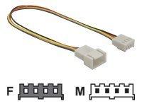 Delock Stromkabel - 4-Pin-Mini-Stromversorgungsstecker (M)