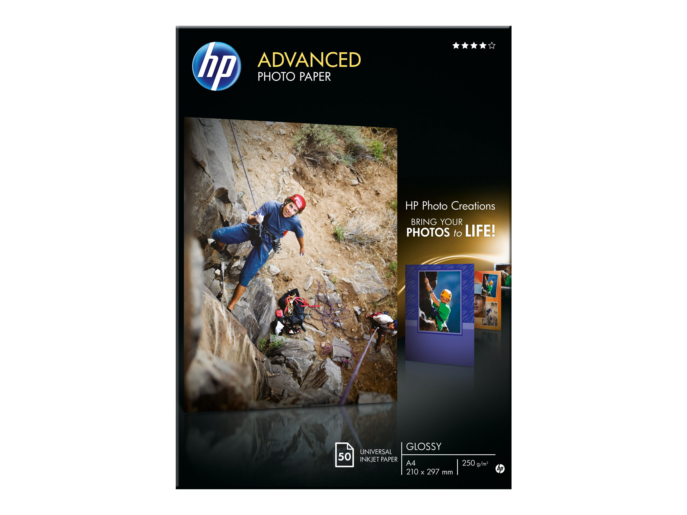 HP Advanced Glossy Photo Paper - Glänzend - A4 (210 x 297 mm)
