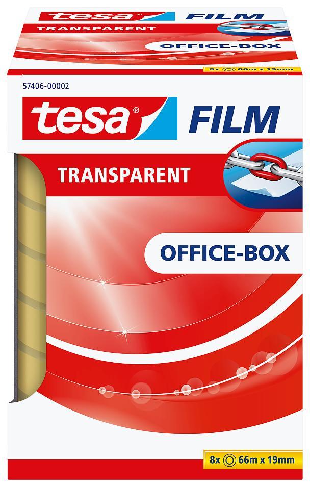 Tesa 57406 - Tesafilm - Klebeband - Office Box - 8 Stück