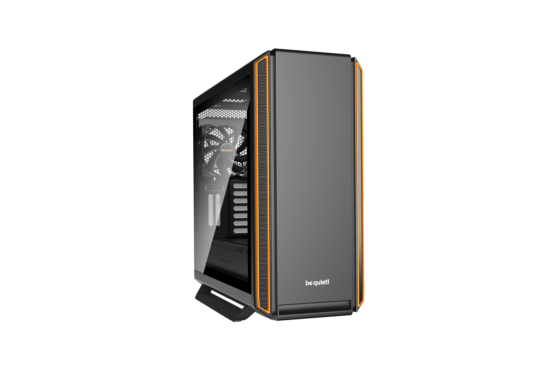 Be Quiet! Silent Base 801 Window - Midi-Tower - PC - Acrylnitril-Butadien-Styrol (ABS) - SECC - Gehärtetes Glas - Schwarz - Orange - ATX,EATX,Micro ATX,Mini-ITX - Festplatte