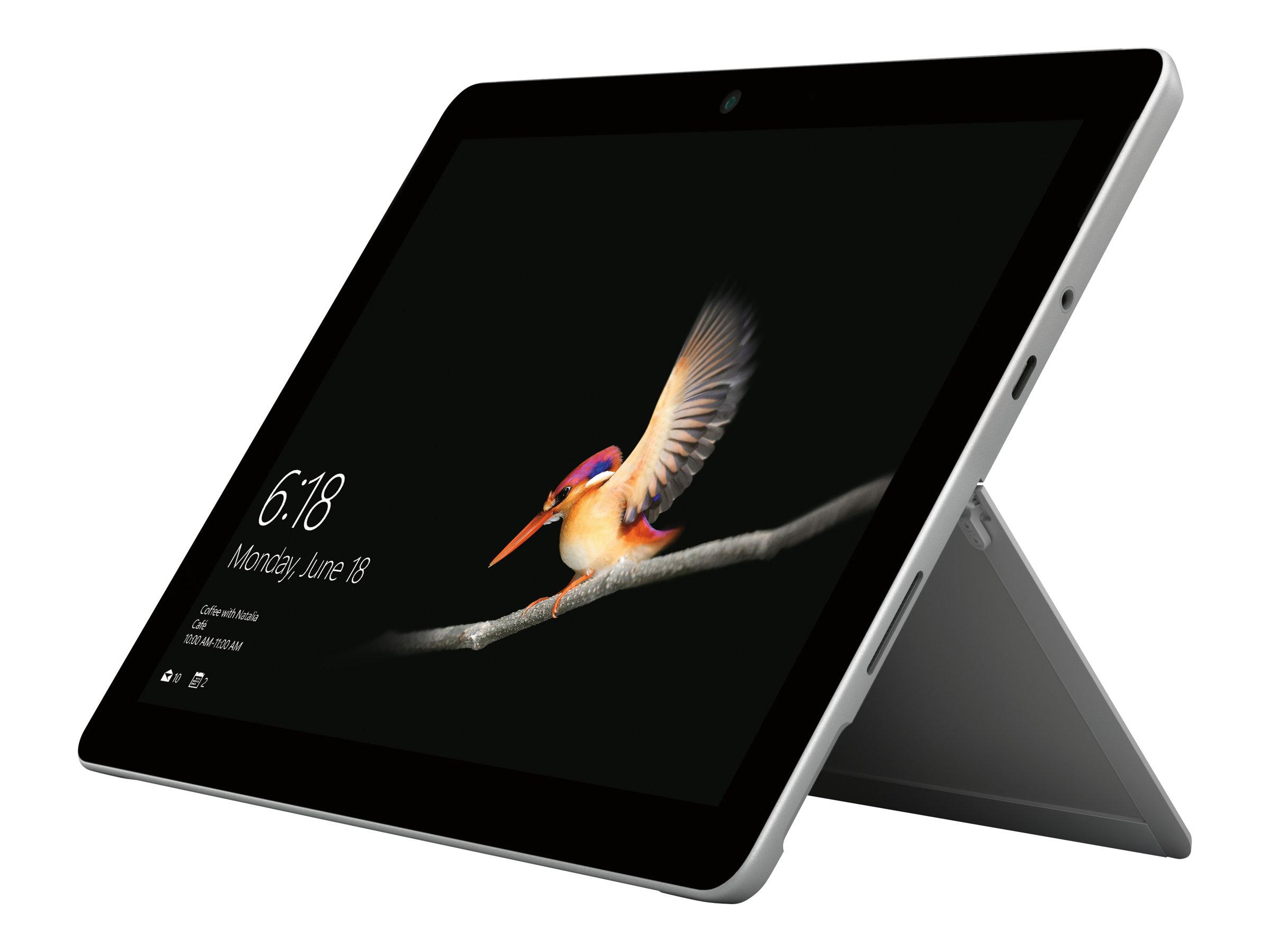 "Microsoft Surface Go - Silber - Tablet 10"" - Intel Pentium Gold 4415Y - 8GB RAM - 128GB SSD - USB-C - Surface Connect - Windows 10 im S Modus"