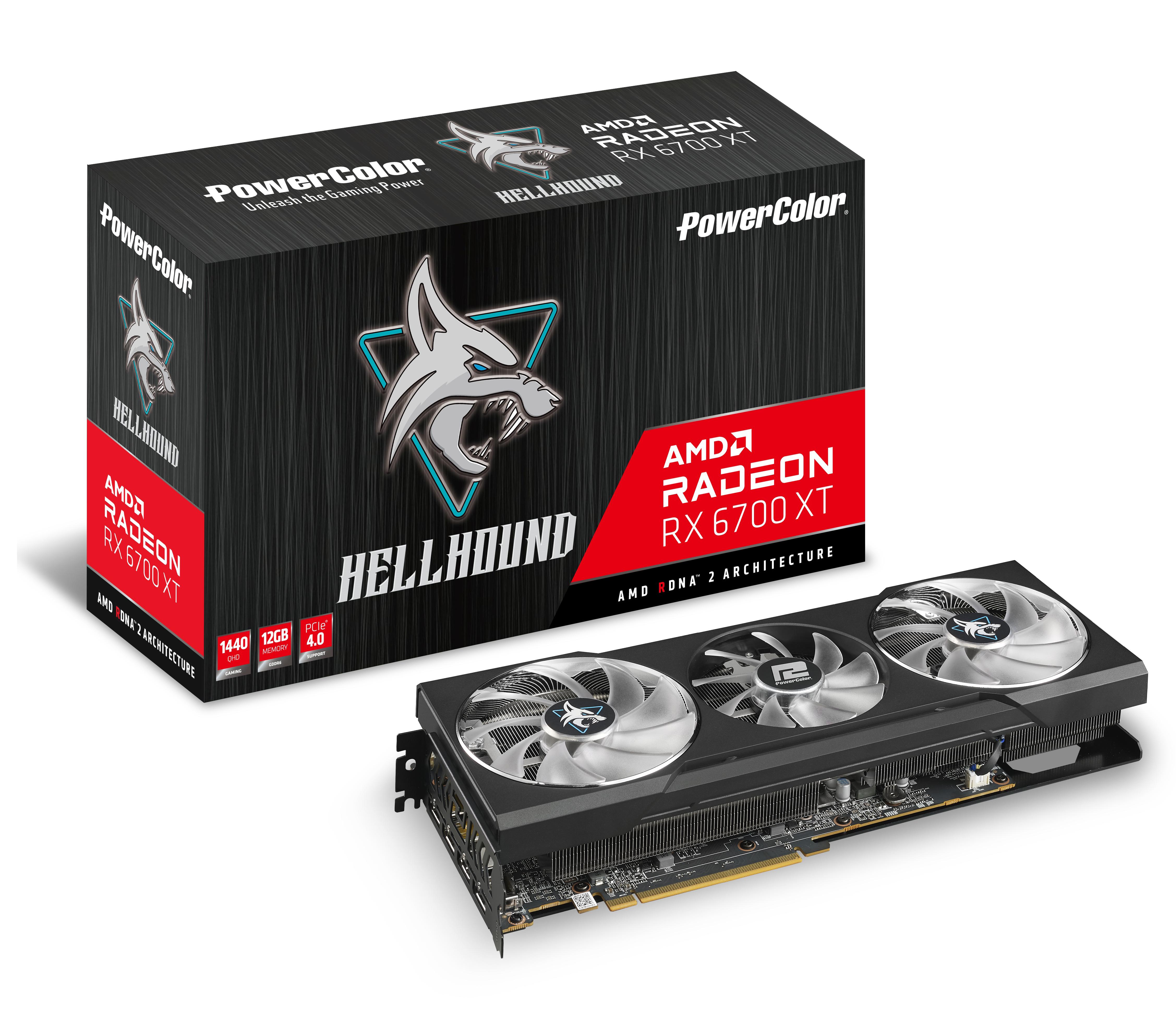 PowerColor AXRX 6700XT 12GBD6-3DHL - Radeon RX 6700 XT - 12 GB - GDDR6 - 192 Bit - PCI Express 4.0 - 3 Lüfter