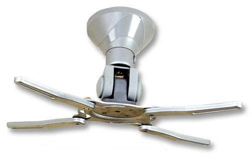 Lindy Universal Projector Ceiling Mounted Bracket - Befestigungskit ( Deckenmontage, Verlängerungsarm, Unterlegscheiben ) für Projektor - Silber