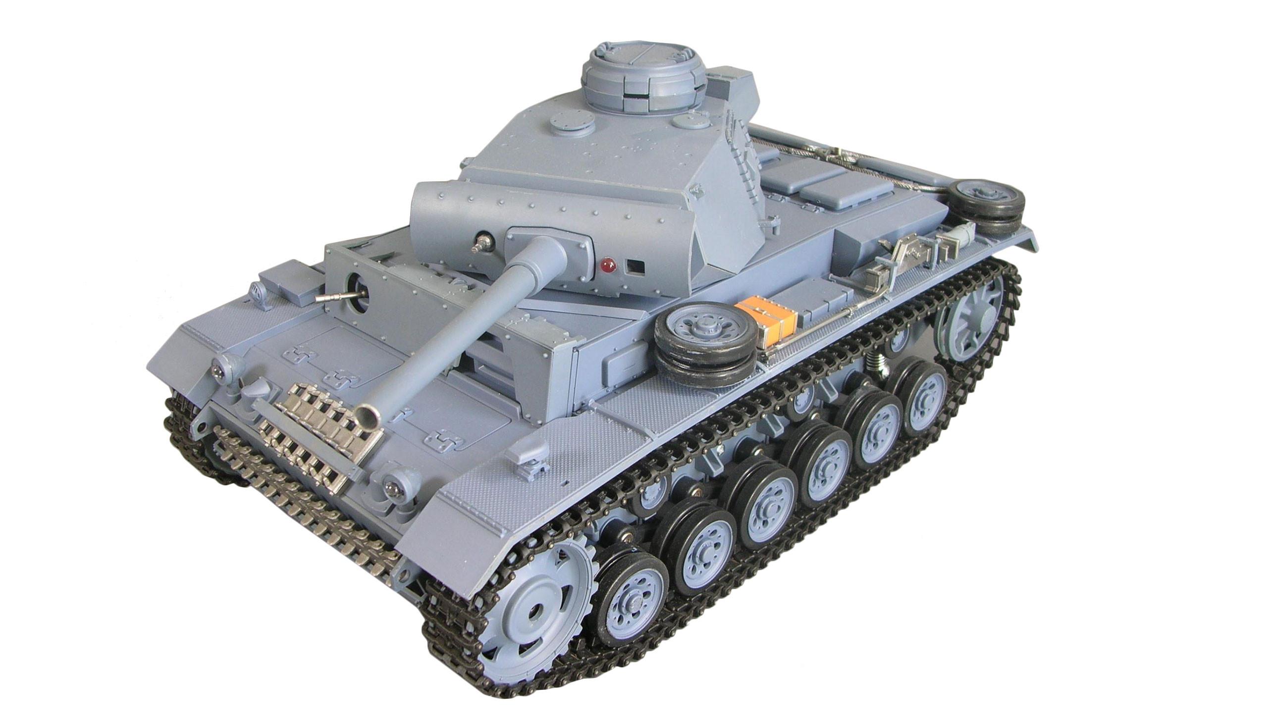 Amewi 23063 - Funkgesteuerter (RC) Panzer - Elektromotor - 1:16 - Betriebsbereit (RTR) - Grau - 2,4 GHz