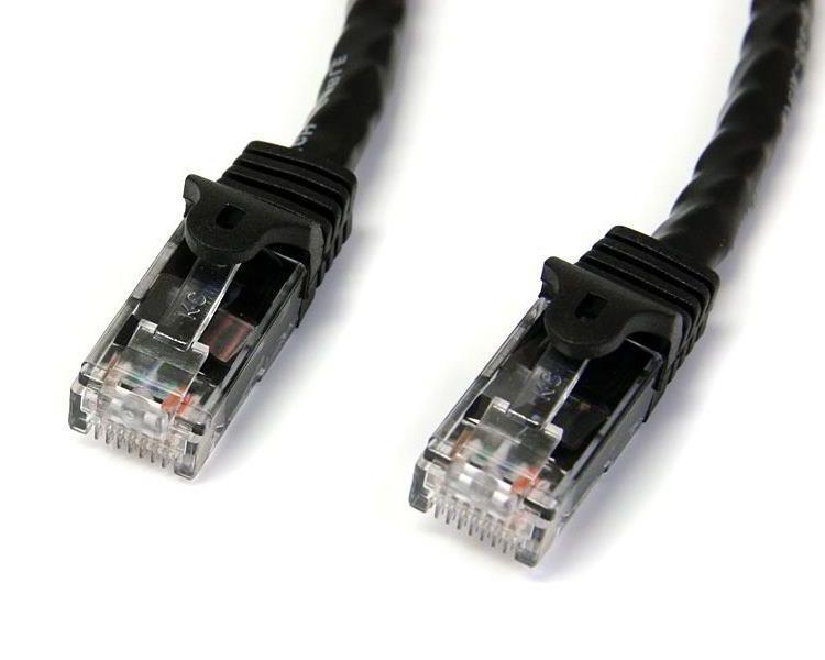 StarTech.com 15m Cat6 Snagless Gigabit UTP Netzwerkkabel - Cat 6 RJ45 Netzwerkkabel mit Knickschutz - Schwarz