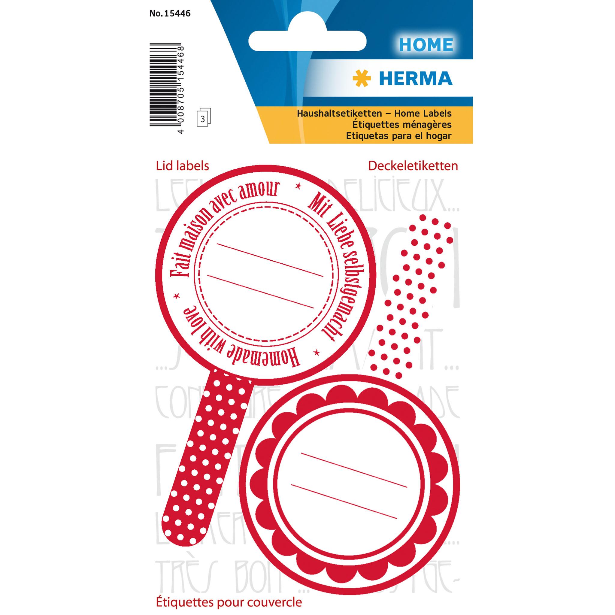 HERMA 15446 - Rot - Weiß - Dauerhaft - Papier - 6 Stück(e) - 2 Stück(e) - 3 Blätter