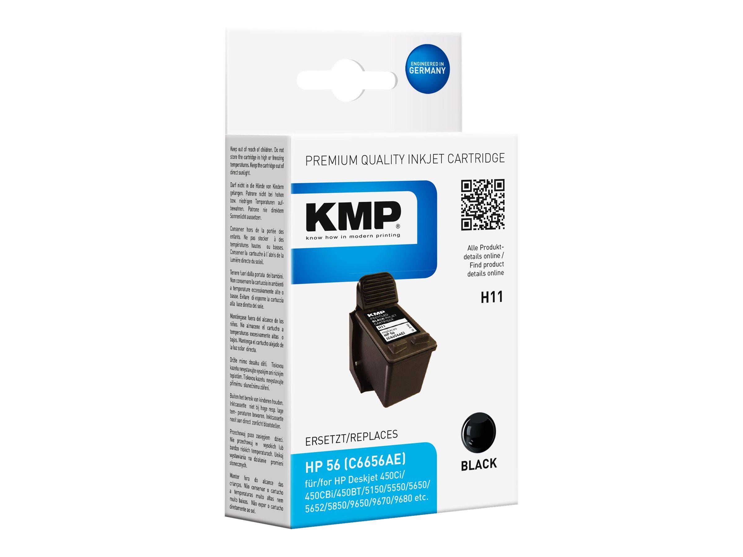 KMP H11 - 19 ml - Schwarz - compatible - Tintenpatrone
