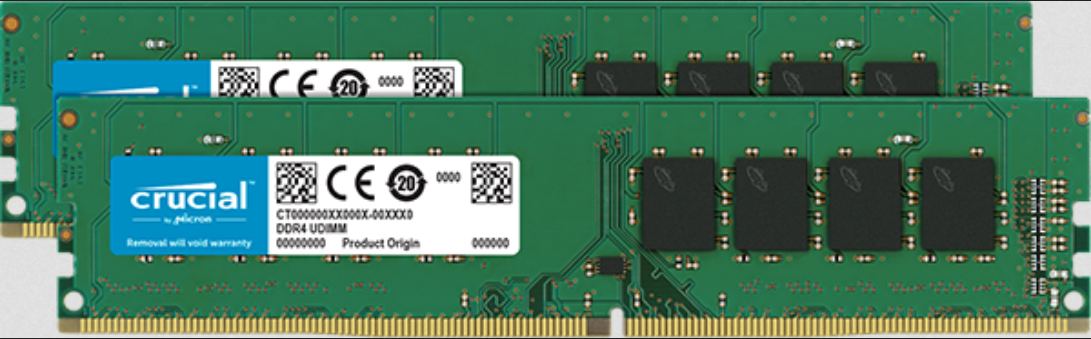Crucial DDR4 - 16 GB: 2 x 8 GB - DIMM 288-PIN