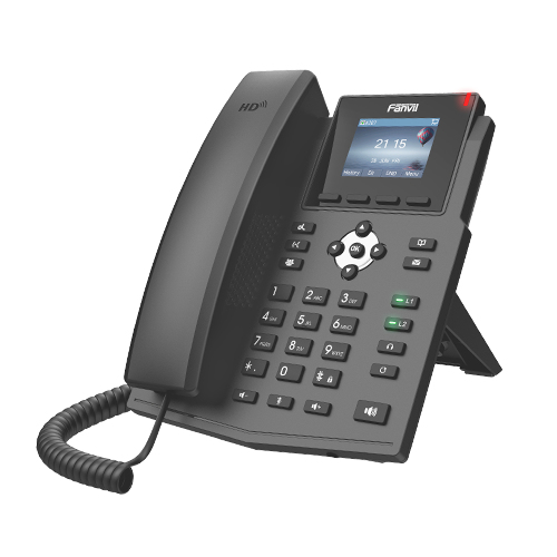 Fanvil X3S V2 - Schwarz - Kabelgebundenes Mobilteil - Wireless - 320 x 240 Pixel - 6,1 cm (2.4 Zoll) - 2 Zeilen