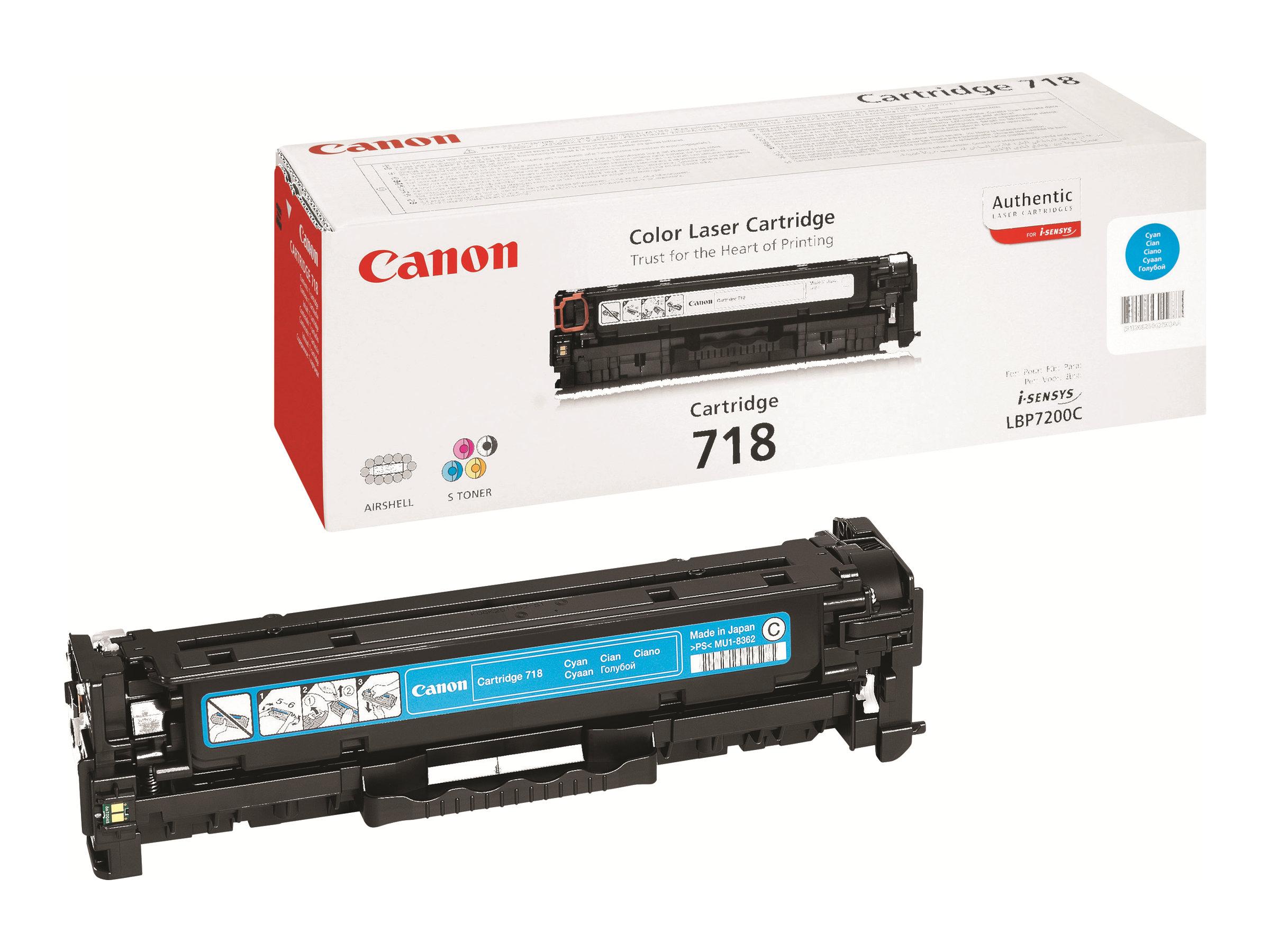 Canon 718 Cyan - Cyan - Original - Tonerpatrone