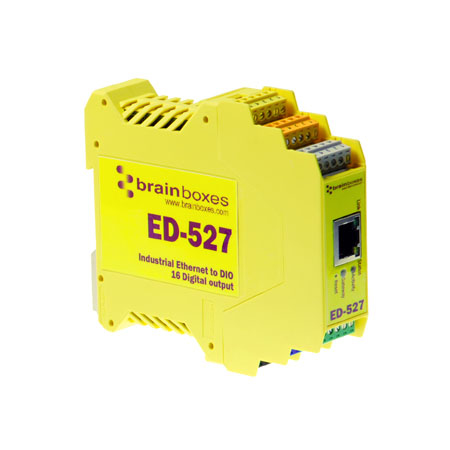 Brainboxes ED527 Yellow 24 V 5 A 235 x 170 x 62 mm 515 g