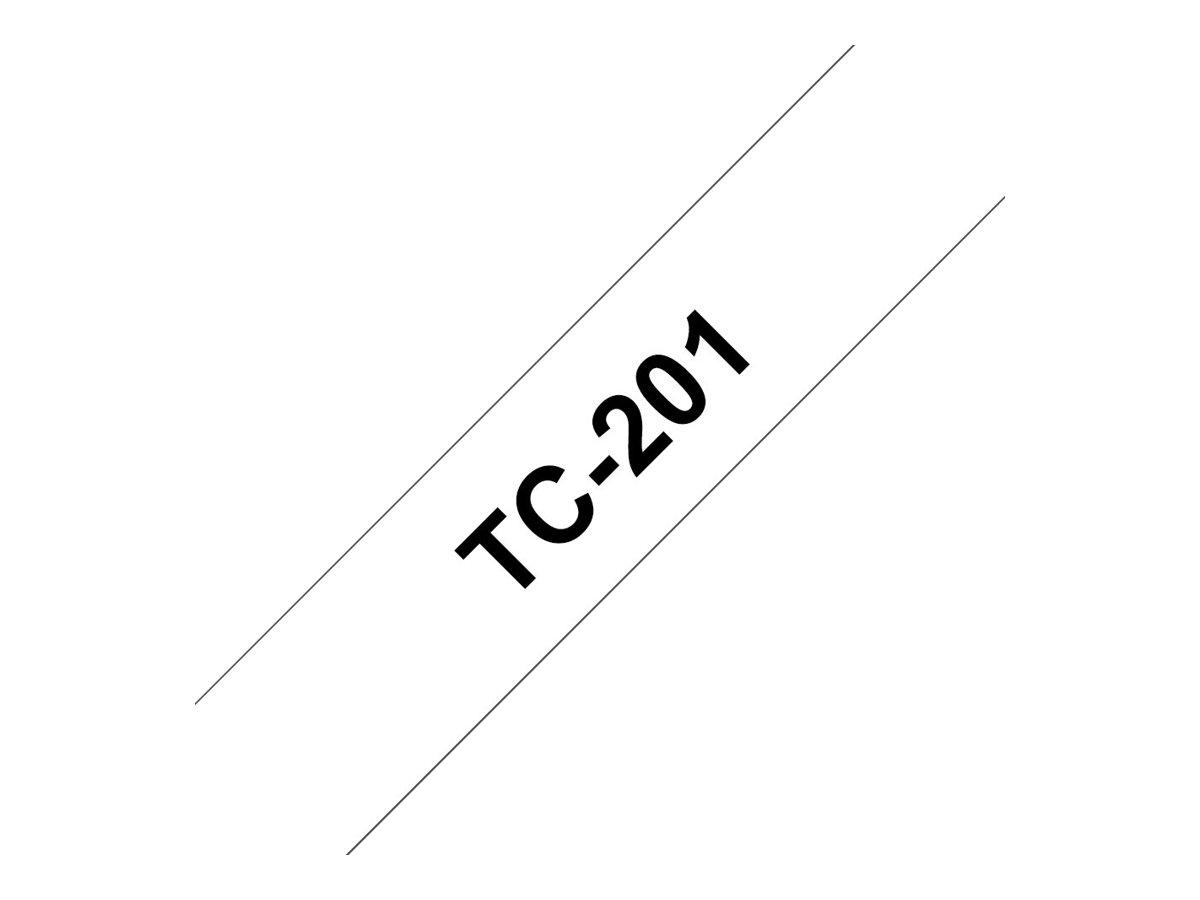 Vorschau: Brother Schwarz - weiß - Rolle (1,2 cm) 1 Rolle(n) Etiketten