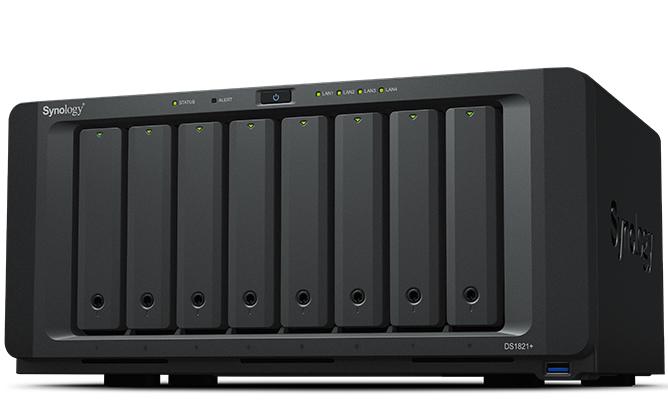 Synology DiskStation DS1821+ - NAS - Tower - AMD Ryzen - V1500B - Schwarz