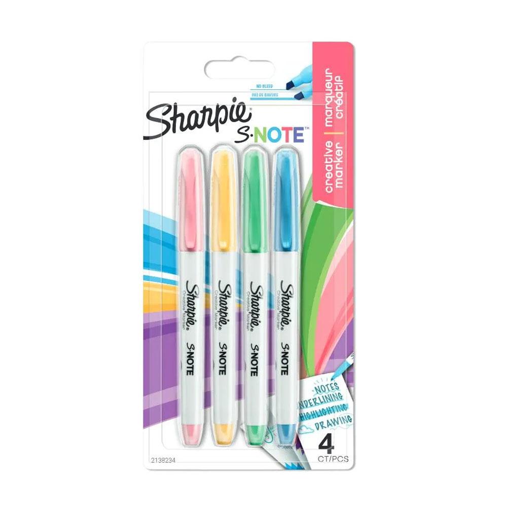 Sharpie Kreativ-Marker S-Note Keilspitze 4er Blister