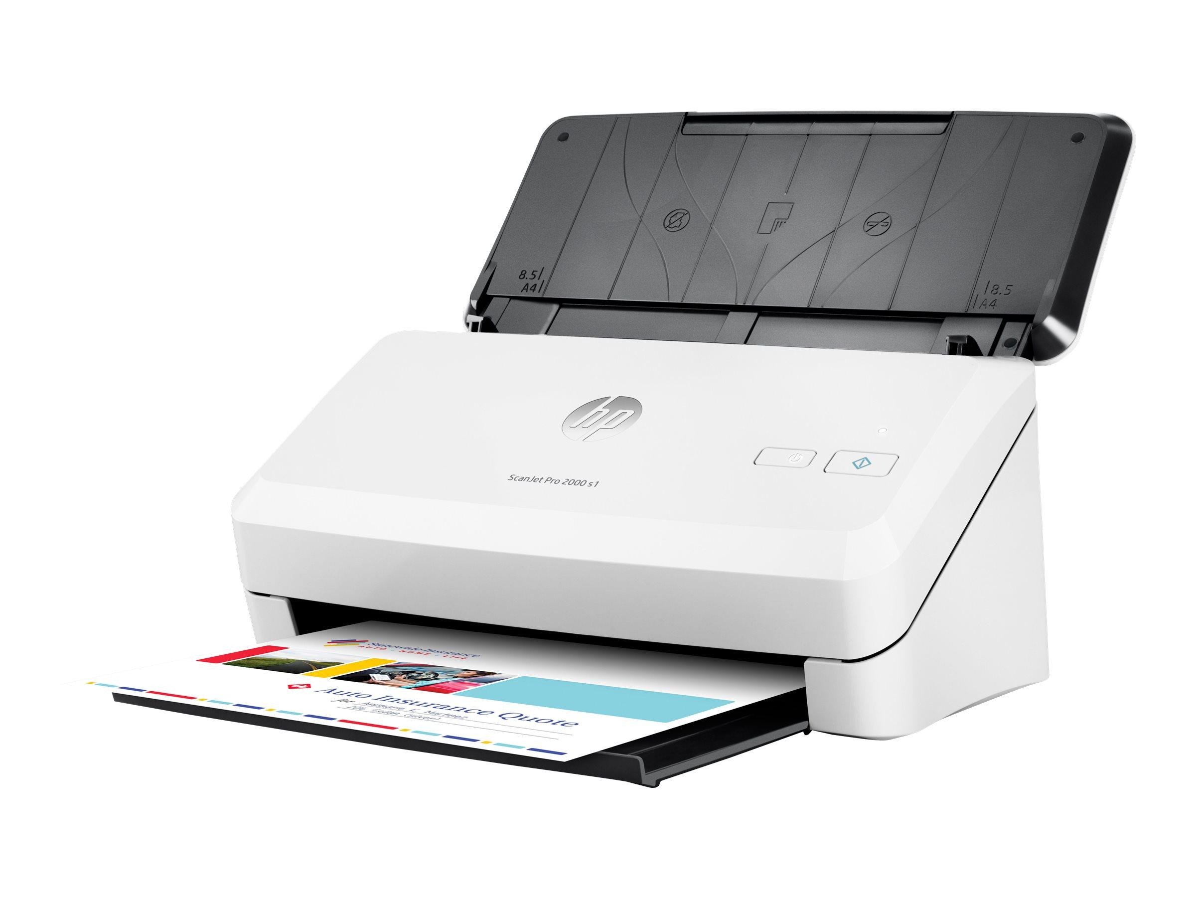 HP Scanjet Pro 2000 s1 Sheet-feed - Dokumentenscanner - Duplex - 216 x 3100 mm - 600 dpi x 600 dpi - bis zu 24 Seiten/Min. (einfarbig)