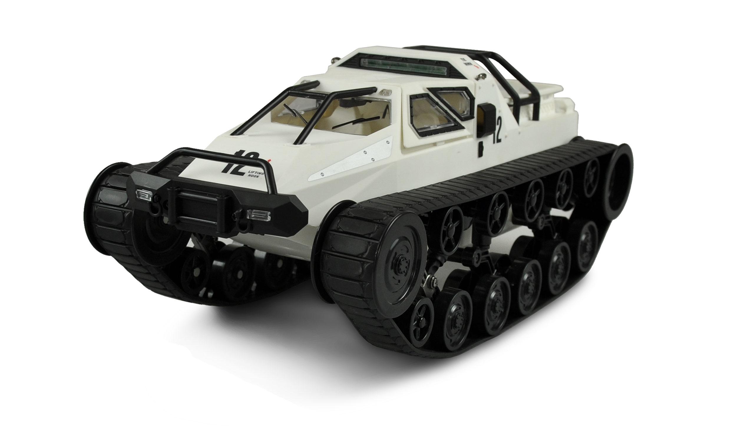 Vorschau: Amewi Military Police Kettenfahrzeug Weiss - Elektromotor - 1:12 - Betriebsbereit (RTR) - Schwarz - Weiß - Junge/Mädchen - 14 Jahr(e)