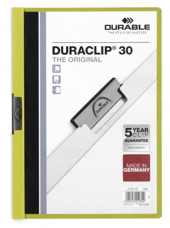 Durable Duraclip 30 - Grün - Transparent - PVC - 30 Blätter - A4 - 1 Stück(e)