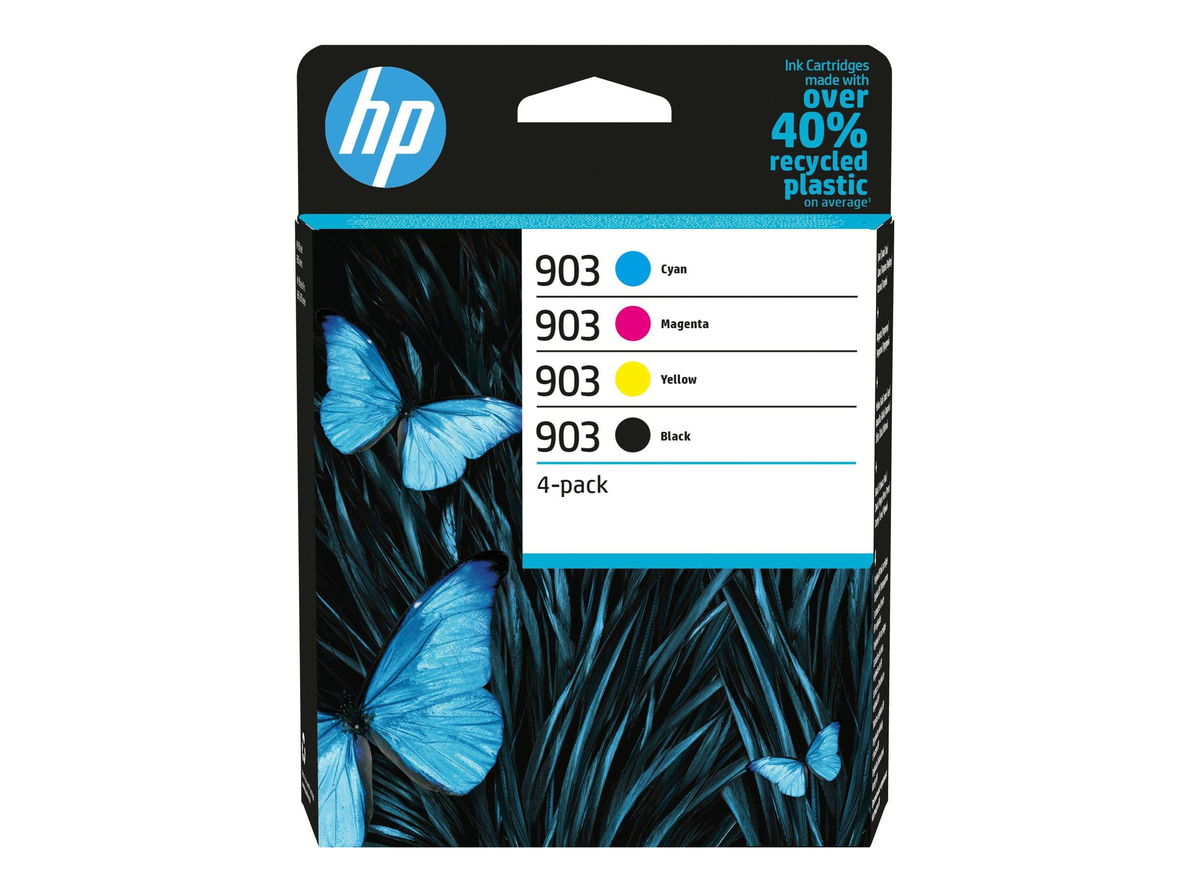 HP 903 - 4er-Pack - Schwarz, Gelb, Cyan, Magenta