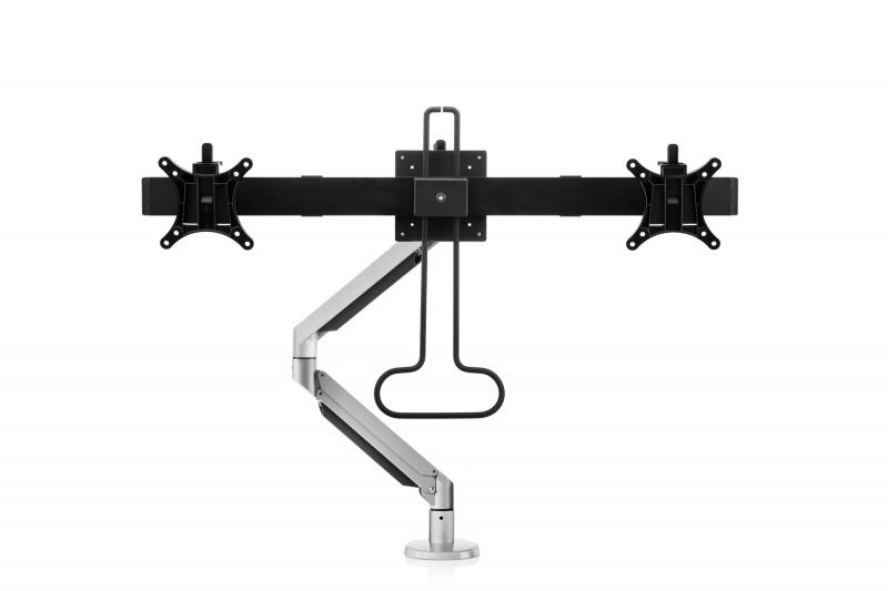 Vorschau: Bakker Premium Office Dual Beam - Klemme /Bolzen - 12 kg - 75 x 75 mm - 100 x 100 mm - Höhenverstellung - Schwarz - Silber