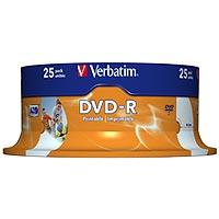 Verbatim 1 x DVD-R - 4.7 GB 16x - breite bedruckbare Fläche für Fotos - Spindel - Speichermedium