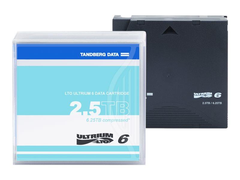 Tandberg LTO Ultrium 6 - 2.5 TB / 6.25 TB - für P/N: 2491-LTO