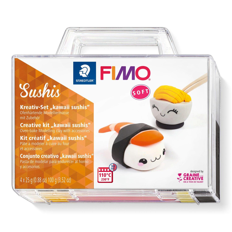 Vorschau: STAEDTLER FIMO Sushis - Knetmasse - Schwarz - Orange - Weiß - Gelb - Erwachsene - 4 Stück(e) - 4 Farben - 110 °C