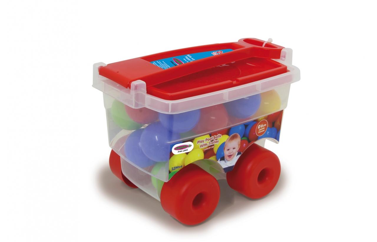 JAMARA Balls with Trolley Happy Balls - 6 cm - 1 Jahr(e) - Mehrfarben - 24 Stück(e)