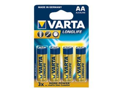 Varta Longlife Extra - Batterie 4 x AA-Typ