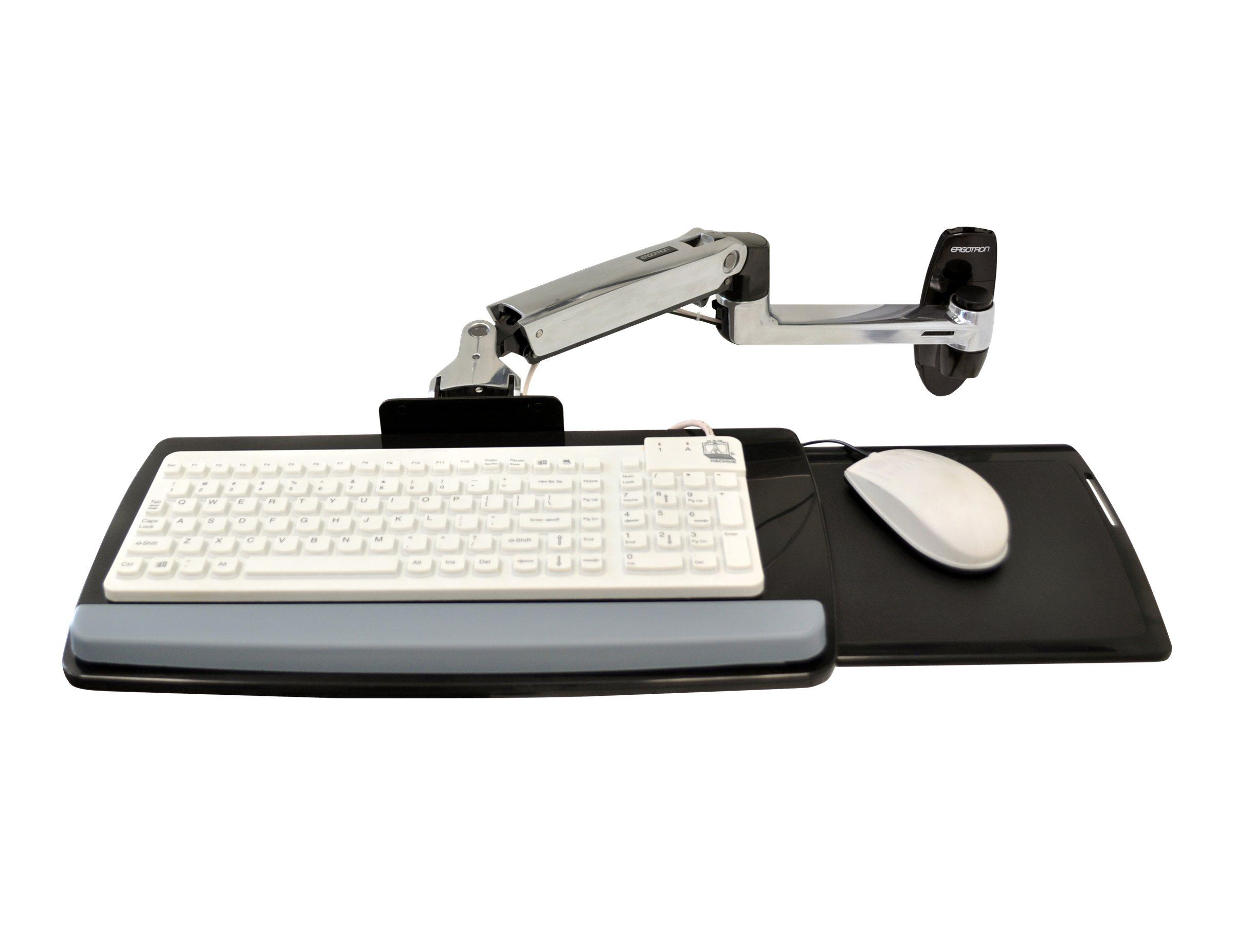 Ergotron LX Wall Mount Keyboard Arm - Tastatur-/Mausablage mit Stützarmhalterung