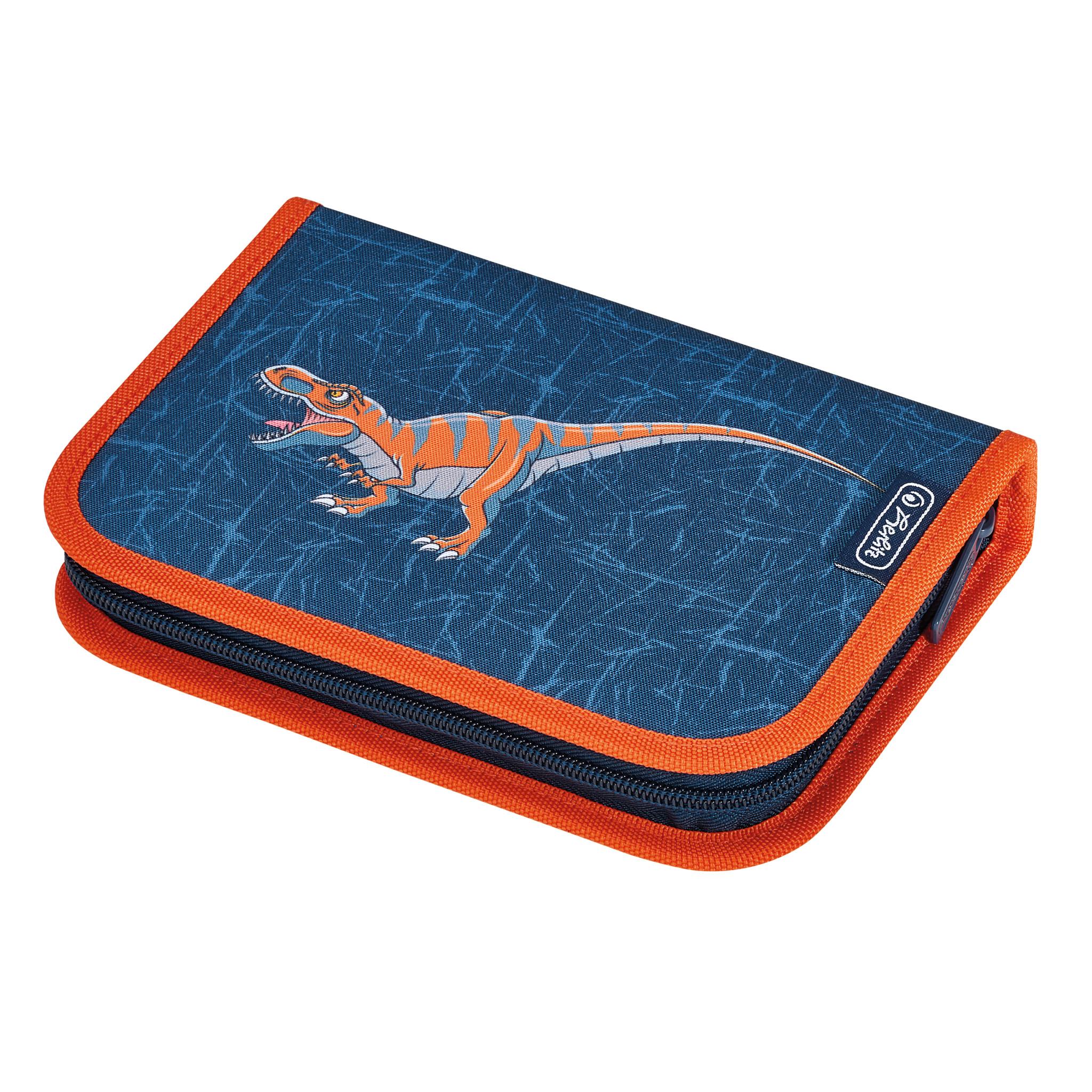 Herlitz 50032990 - Federmäppchen - Dinomania - Blau - Orange - Polyester
