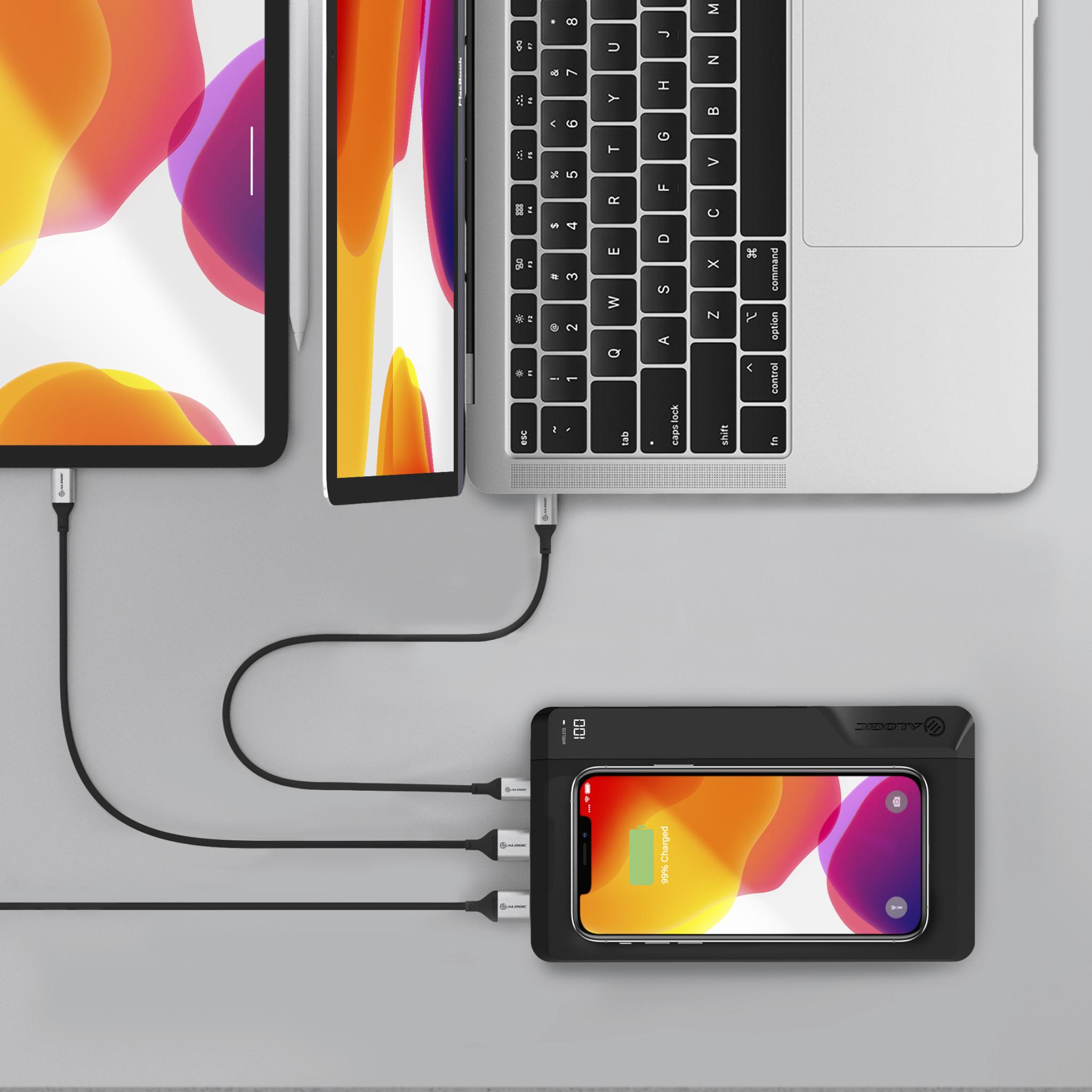 Alogic P27QC10P60-BK - Schwarz - Universal - ABS - Kautschuk - 27000 mAh - USB - 60 W