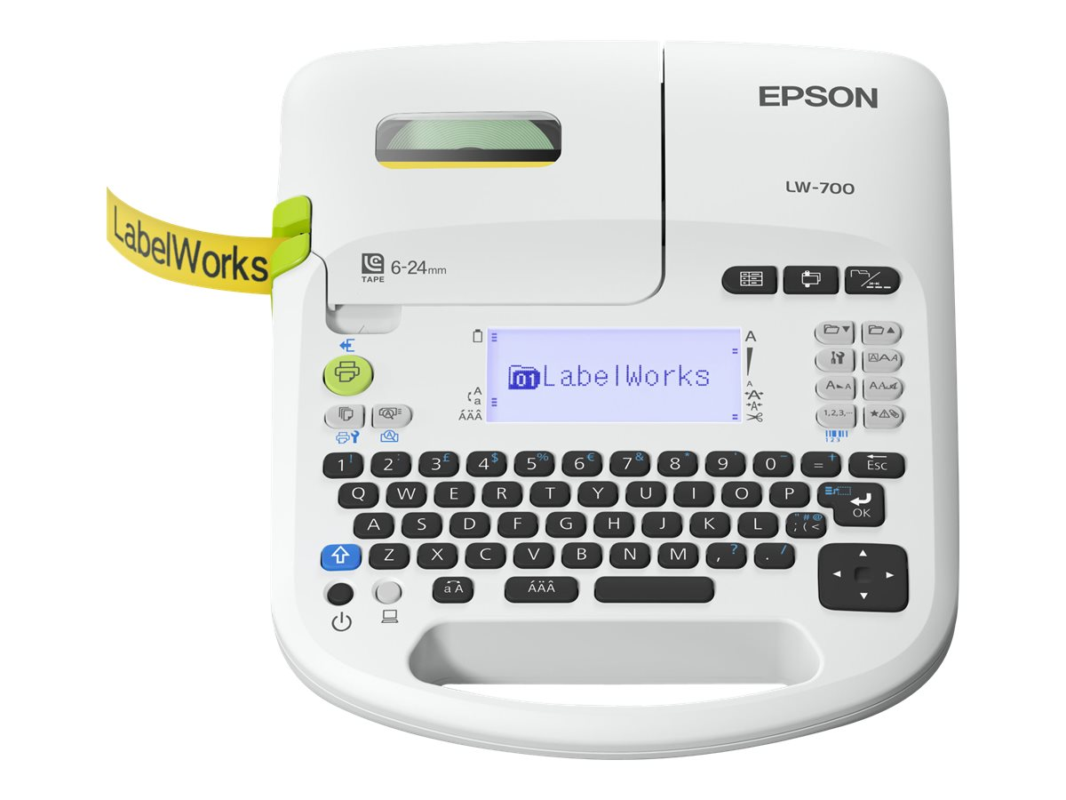 Epson LabelWorks LW-700 - Beschriftungsgerät - monochrom - Thermal Transfer - Rolle (2,4 cm)