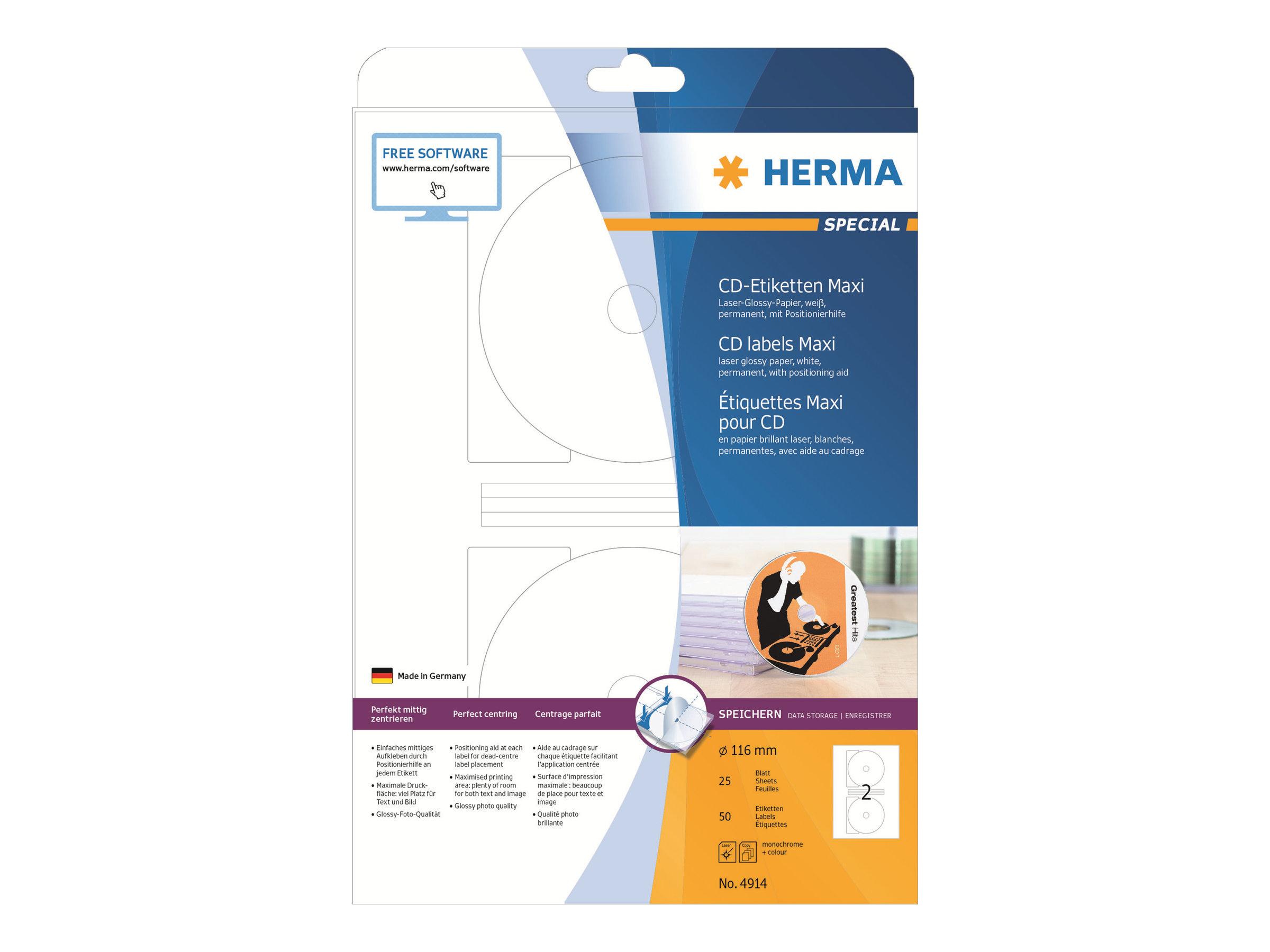 HERMA Special Maxi - Papier - hochglänzend