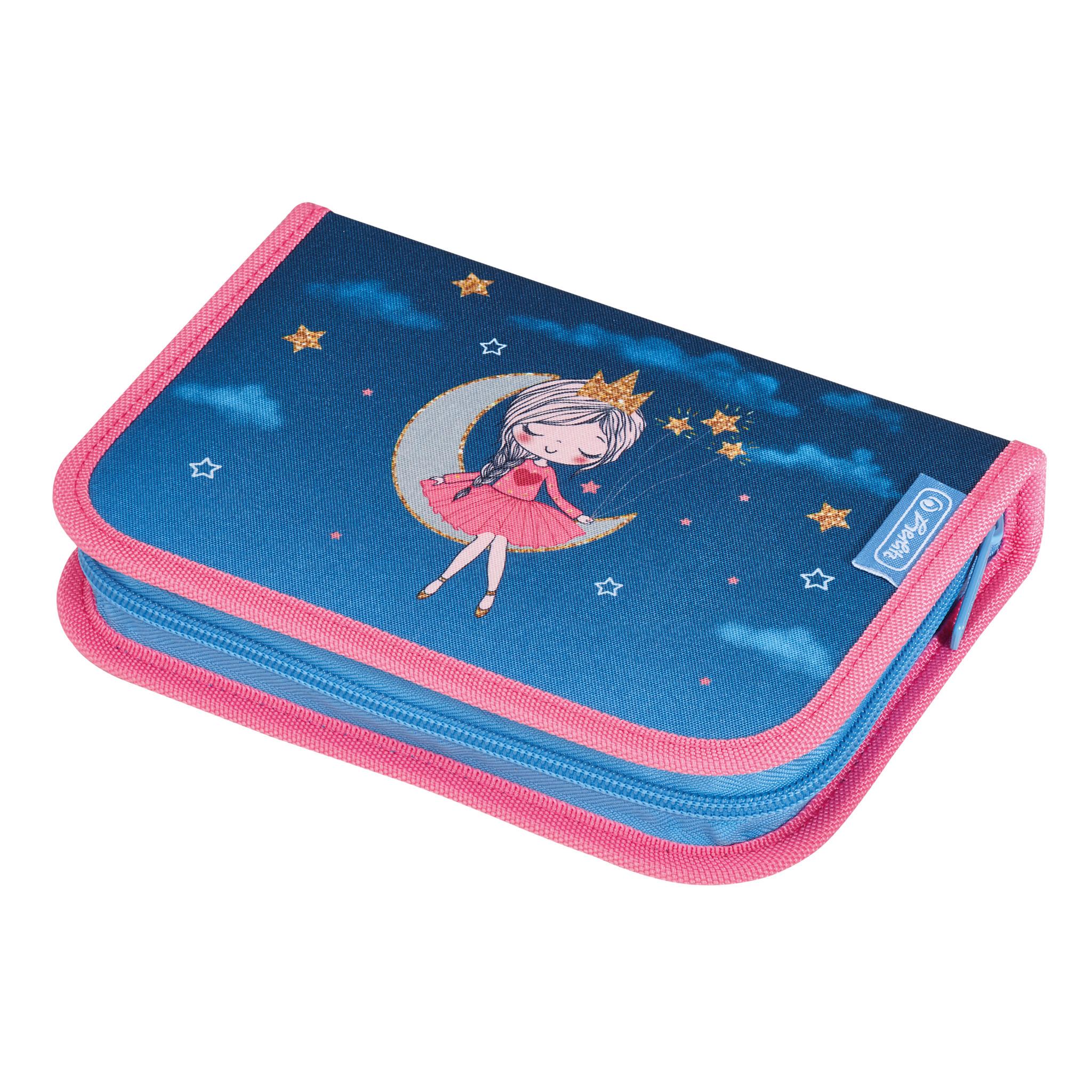 Herlitz50032976 - Federmäppchen - Moon Lady - Blau - Pink - Polyester